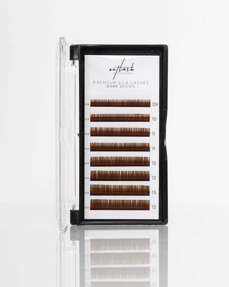 Coloured Lashes - Dark Brown