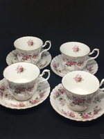 Set of 4 Royal Albert 'Lavender Rose'