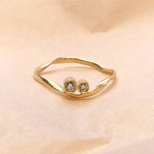 Flair Ring 18 kt. guld - 2 stk. diamanter