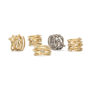 Loop Ring Classic - guld - 9 Diamanter - Kristine Algreen Jewelry