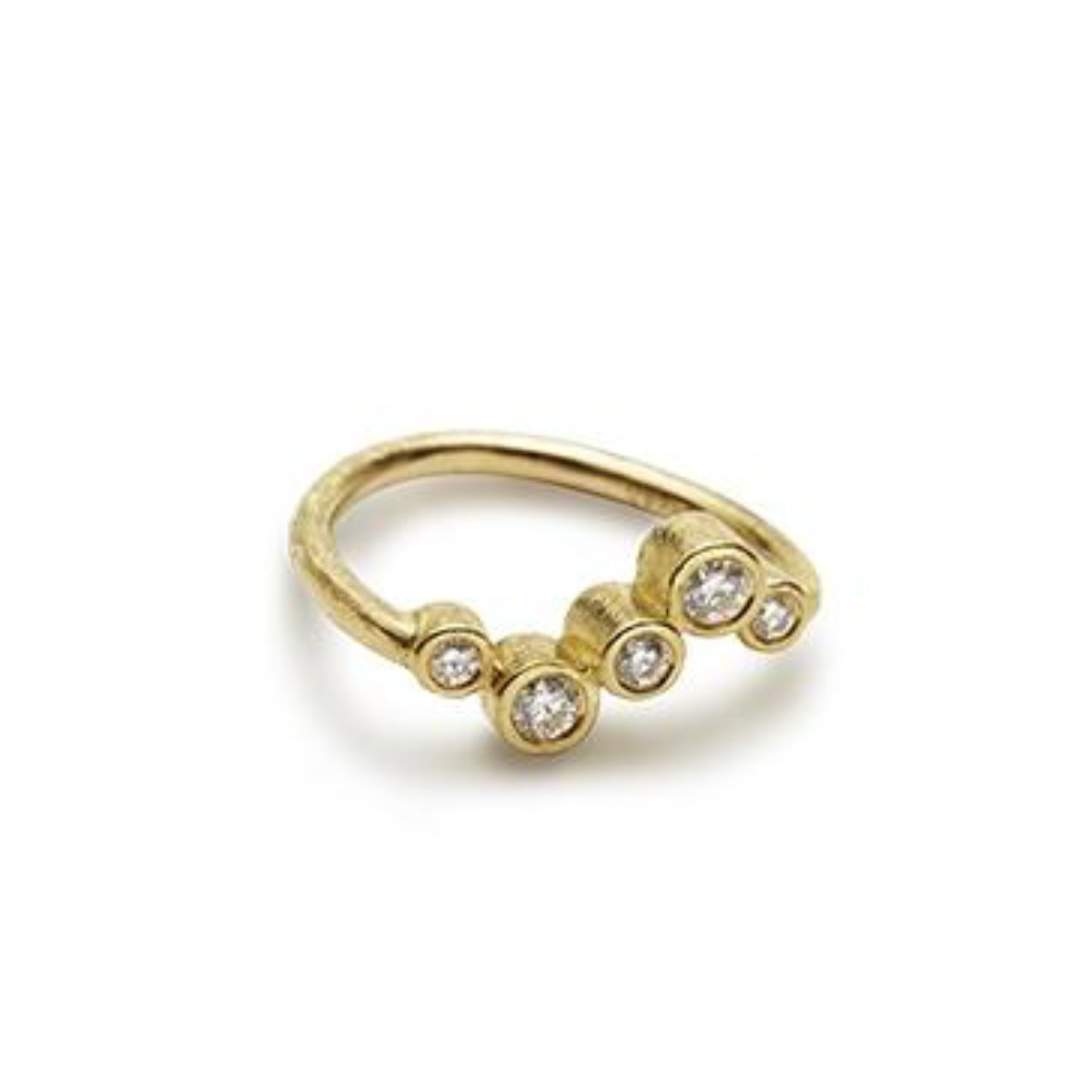 LineUp Ring No.1 - guld - Diamanter - Kristine Algreen Jewelry
