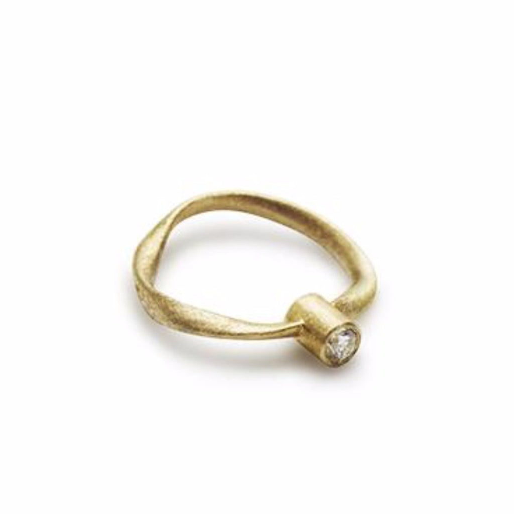 Flair Ring Guld-Diamant Kristine Algreen Jewelry