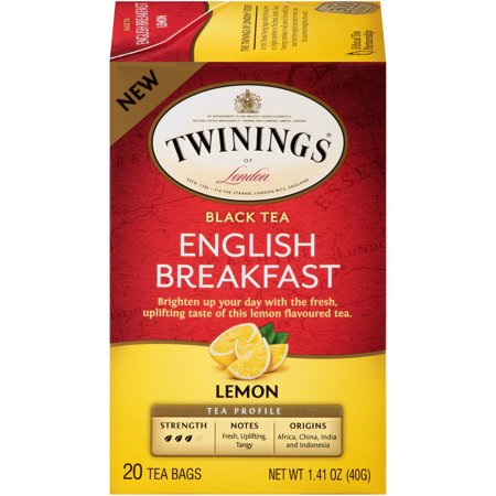 TWINING TEA: English Breakfast Lemon Black Tea, 20 bg