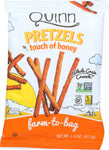 QUINN: Touch Of Honey Sticks Snack Bag, 1.5 oz - SaveSpacex