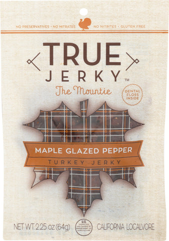 TRUE JERKY: Jerky Turkey Maple Glazed Pepper, 2.25 oz