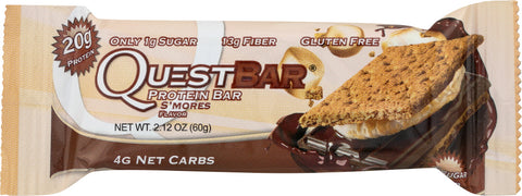 QUEST: Bar Protein Bar S'Mores Gluten Free, 2.12 oz - SaveSpacex