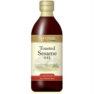 Spectrum Naturals Toasted Unrefined Sesame Oil ( 6x8 Oz)
