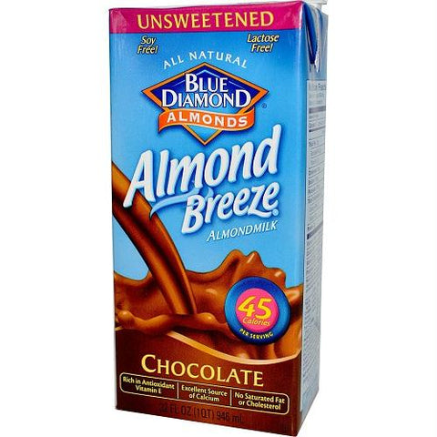 Blue Diamond Chocolate Almond Breeze Unsweetened (12x32 Oz)
