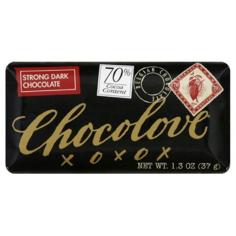 Chocolove Strong Dark Chocolate Mini Bar (12x1.3 Oz)
