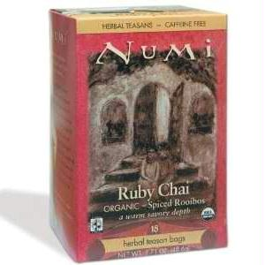 Numi Tea Ruby Chai Herbal Tea (6x18 Bag)