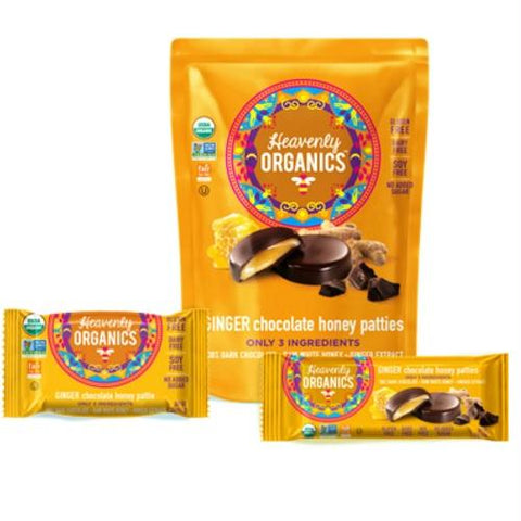 Heavenly Organics Chocolate Ginger Honey Patties (6x4.66 Oz)