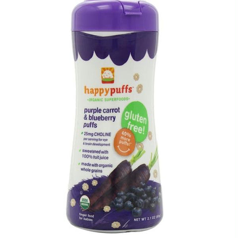 Happy Puffs Blueberry Prpl Crrt (6x2.1oz )