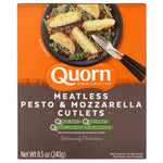 QUORN: Meatless Pesto and Mozzarella Cutlets, 8.50 oz