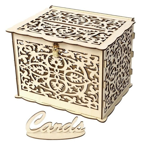 Beautiful -Very Unique and Detailed Wedding Gift Box With Lock and Key. - SaveSpacex