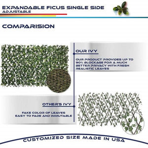 Holiday promotion 50% OFF Expandable Faux Privacy Fence