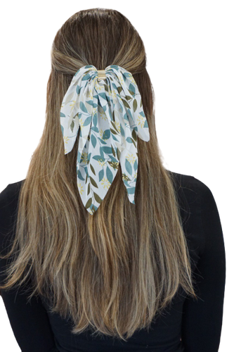 Green Summer Scarf Bow