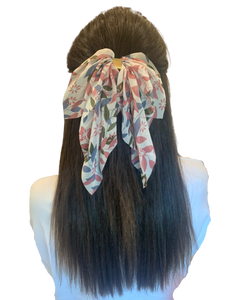 Pink Summer Scarf Bow