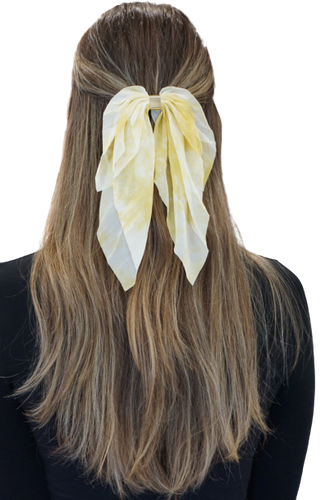 Yellow Tie Dye Scarf Bow