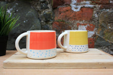 Load image into Gallery viewer, Polka dot mango and Malibu blue mug