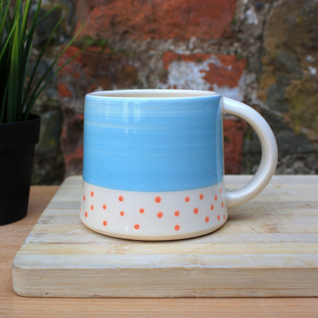 Polka dot Malibu and mango mug