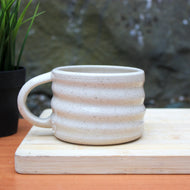 Rippled Flecked Soup Mug