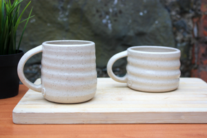 Tall Ripple Flecked Mug