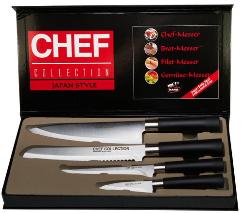 Chef Collection Messer Set Japan Style 4 teilig
