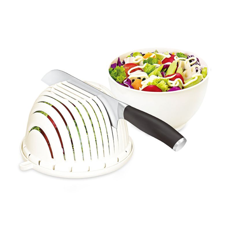 Multi-functional Salad Cutting Bowl For Quickly Cuts Vegetables