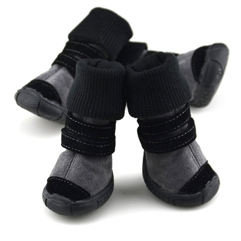 Soft Leather Waterproof Dog Boots