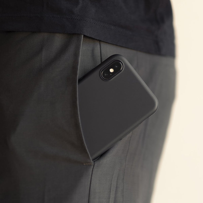 Dünne iPhone XS Max Hülle V2 - Stealth Black