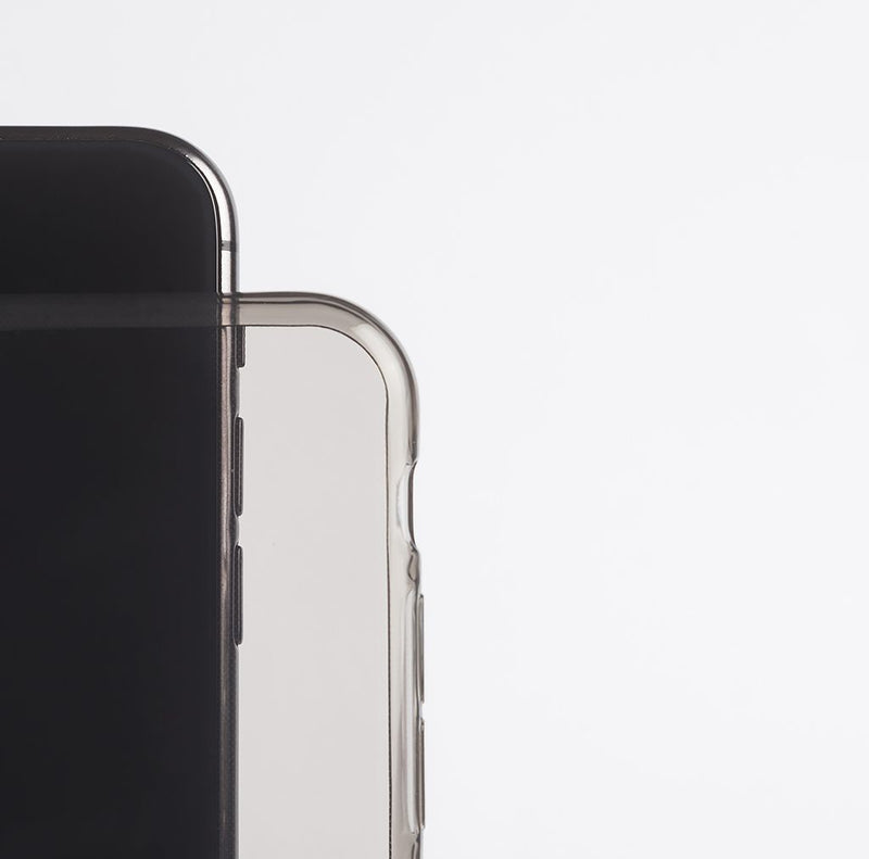 Dünne Transparent iPhone X Hülle - Black transparent