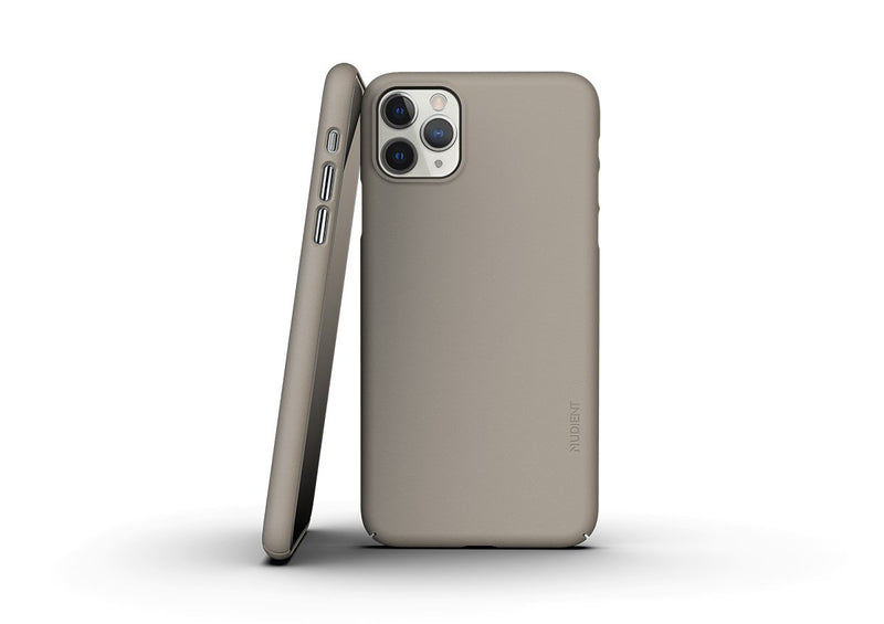 Nudient - Dünne iPhone 11 Pro Max Hülle V3 - Clay Beige