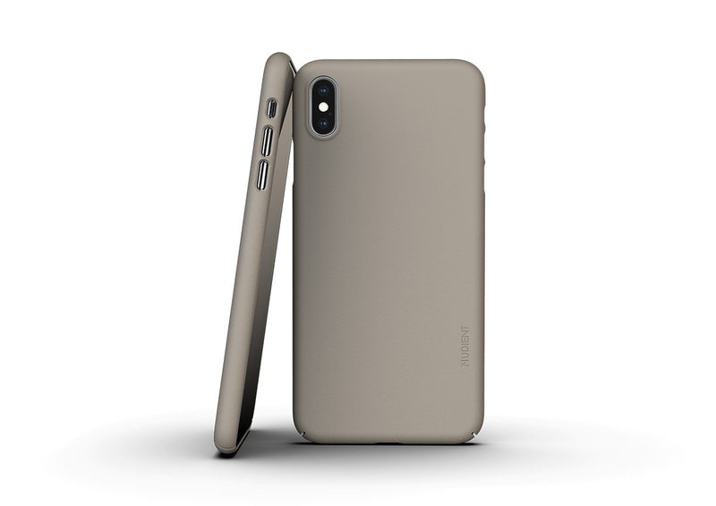 Nudient - Dünne iPhone XS Max Hülle V3 - Clay Beige