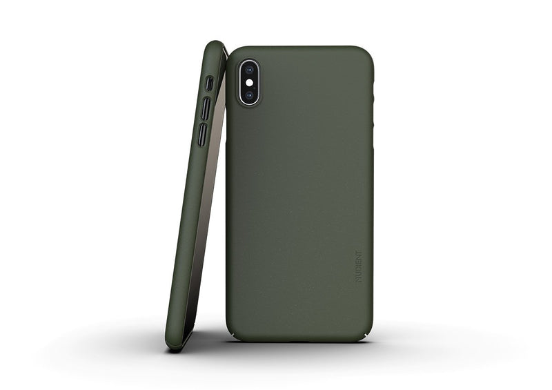 Nudient - Dünne iPhone XS Max Hülle V3 - Pine Green