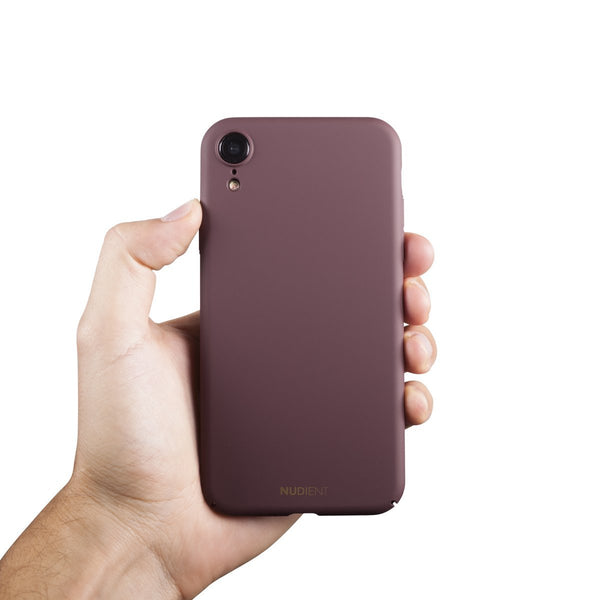Dünne iPhone XR Hülle V2 - Sangria Red