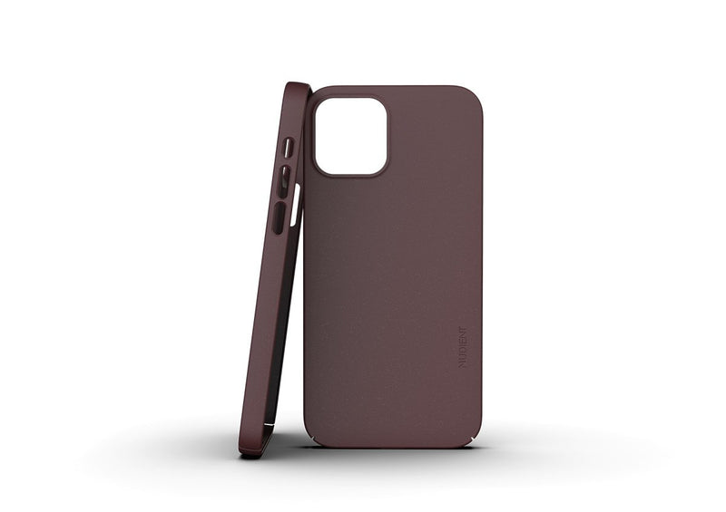Nudient - Thin iPhone 12 Pro Case V3 - Sangria Red