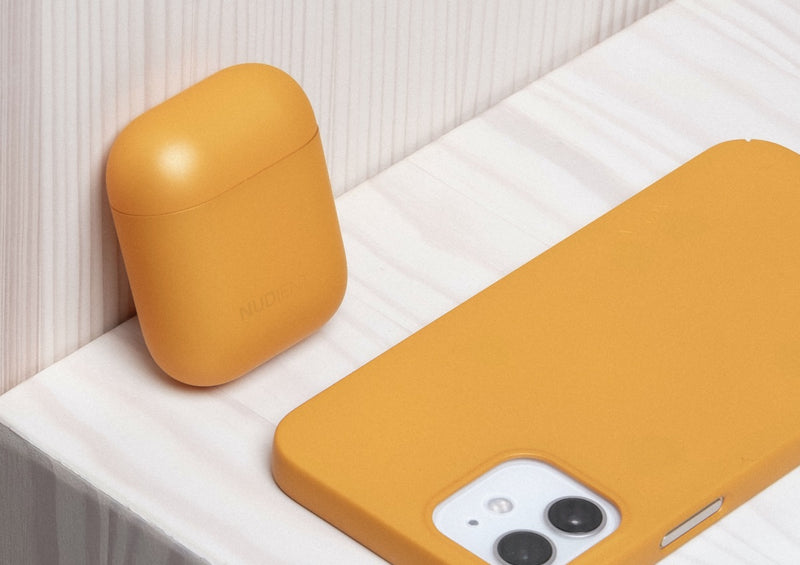 Nudient - AirPods Gen 1 & 2 Hülle - Saffron Yellow