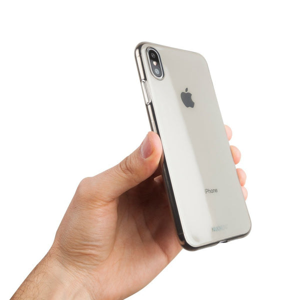 "Dünne Transparent iPhone XS Max 6,5"" Hülle - Black transparent"