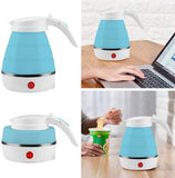 Foldable Electric Travel Kettle Food Grade Silicone, 0.6 Liter 100-240V Food Grade Silicone