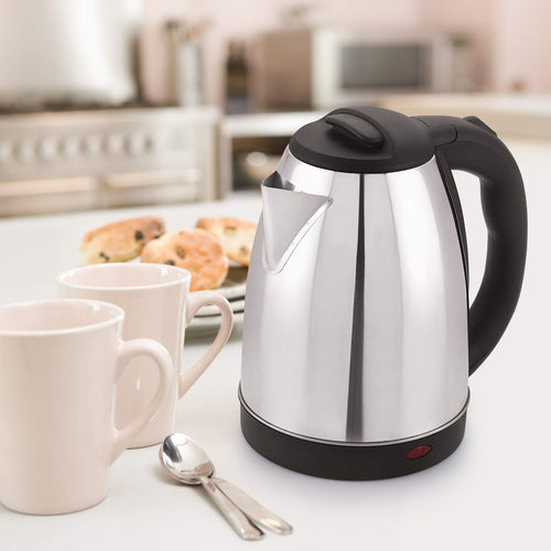 Fast Boiling Tea Kettle Cordless, Stainless Steel Finish Hot Water Kettle – Tea Kettle, Tea Pot – Hot Water Heater Dispenser Electric Kettle (2 L, Silver)