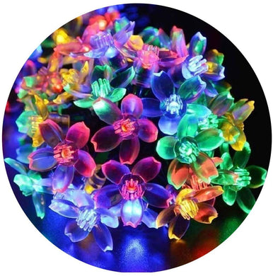30 Led 10M Flower String Lights, Sakura Lights, Indoor/Outdoor Decorative String Lights, Fairy Twinkle Wire Lights for Diwali Christmas/Patio/Garden/Party Decorations (Multi-Color)