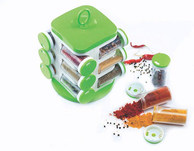 Standard Spice Rack Organizer (Green) - Set of 12 Premium Quality