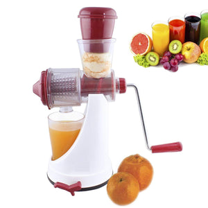 Fruit & Vegetable Manual Juice Machine with Steel Handle Fruit Juicer