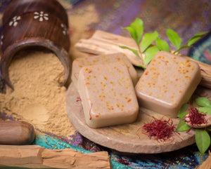 whitening soap-sandal wood saffron soap
