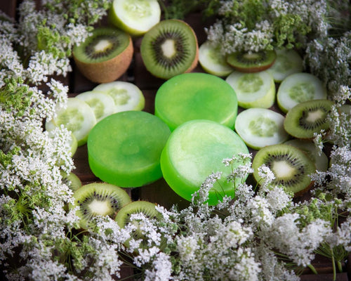 cucumber and kiwi soap