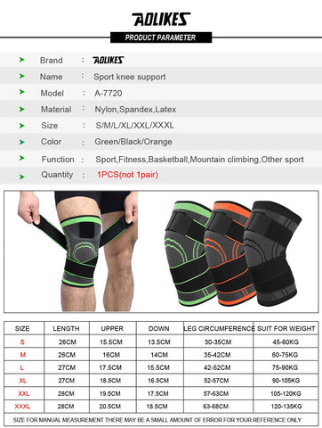 Image of Protective Sports Breathable Bandage Knee Brace