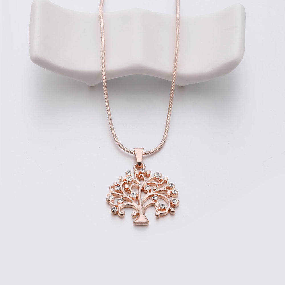 Gold Tree Of Life Necklace for Women