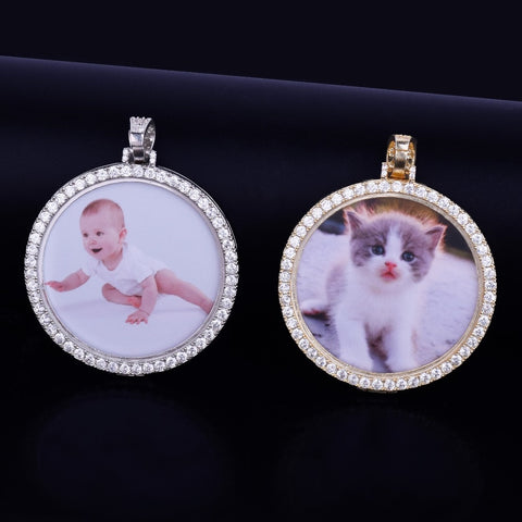 Image of Custom Made Photo Medallion Necklace & Pendant with 4mm Chain