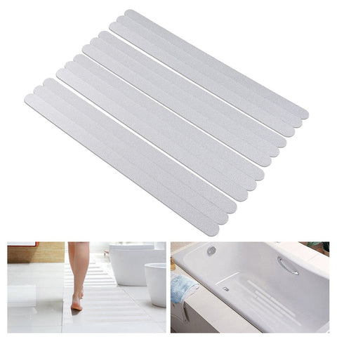 Anti-Slip Bath Mat Grip Stickers - 20x2cm (12pcs)