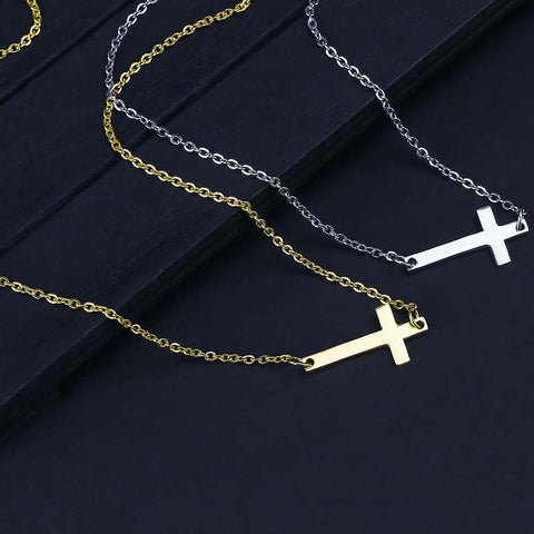 Cross Choker Necklace